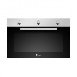FOUR GAZ+ ELECTRIQUE ENCASTRABLE 90 CM INOX CANDY