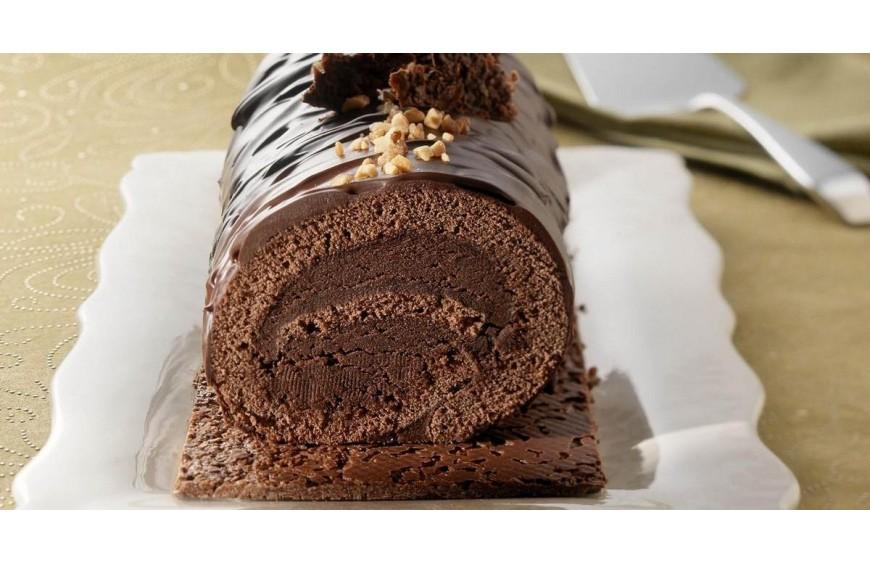 buche roulée au chocolat