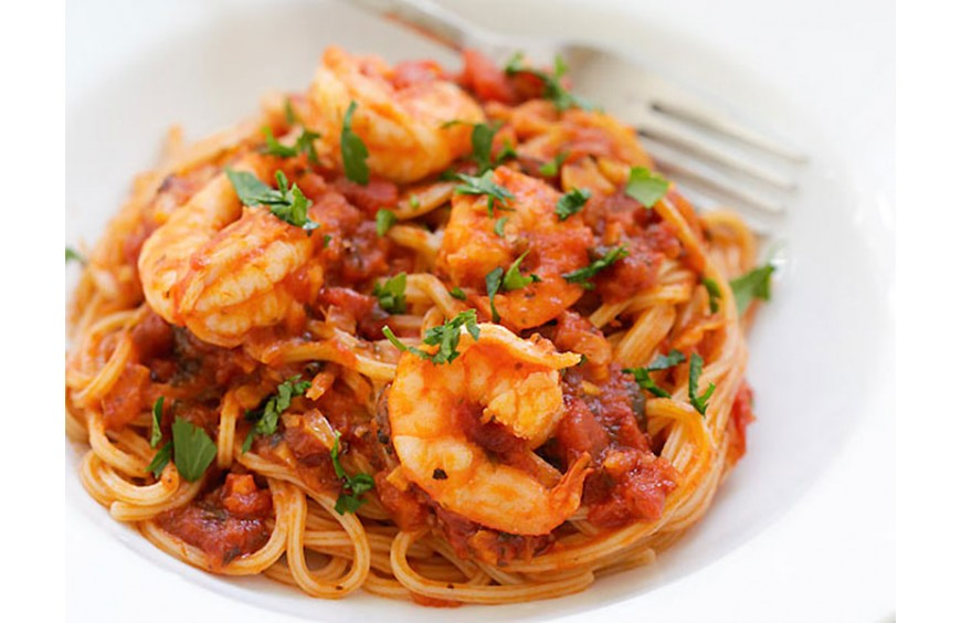 spaghetti fruit de mer tunisienne