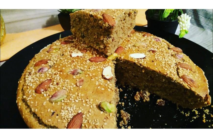 Recette  gâteau tunisien au Sorgho :   الخبزة التونسية بالدرع